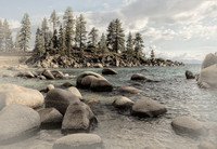 Sand Harbor Tinted B&W